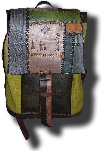 кожаный рюкзак на одной лямке - Сумки.